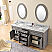 Carenton 72 inch Traditional Double Sink Bath Vanity Gray Finish