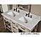 Rustic Double Bathroom Vanity Grey Top