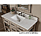 Rustic Bathroom Vanity Carrera White Top