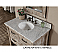 Rustic Bathroom Vanity White White Top