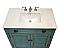 Adelina 36 inch Bathroom Vanity White Marble Top