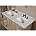 60 inch Bathroom Vanity MarbleTop