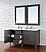 Abstron 60 inch Silver Oak Double Sink Bathroom Vanity Optional Tops