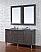 Abstron 60 inch Oak Finish Double Sink Bathroom Vanity Optional Tops