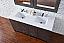 Abstron 60 inch Silver Oak Finish Double Sink Bath Vanity Optional Tops