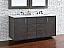 Abstron 60 inch Silver Oak Finish Double Bathroom Vanity Optional Tops