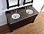 Abstron 60 inch Mahogany Finish Double Traditional Bathroom Vanity Optional Top