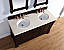 Abstron 60 inch Mahogany Finish Double Traditional Bathroom Vanity Top