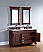 Abstron 60 inch Cherry Finish Double Traditional Vanity Optional Top
