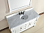Abstron 60 inch White Finish Traditional Bathroom Vanity