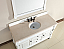 Abstron 60 inch White Finish Single Traditional Bath Vanity Optional Countertop