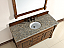 Abstron 60 inch Country Oak Finish Single Traditional Vanity Optional Countertop
