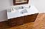 Abstron 60 inch Walnut Finish Single Sink Modern Bath Vanity Optional Countertop