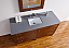 Abstron 60 inch Walnut Finish Single Sink Modern Bathroom Vanity Countertop