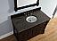 Abstron 48 inch Mahogany Finish Single Traditional Bath Vanity Optional Countertop