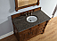 Abstron 48 inch Country Oak Finish Single Traditional Vanity Optional Countertop