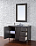 Abstron 48 inch Silver Oak Single Modern Bathroom Vanity Optional Countertop