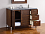 Abstron 48 inch Walnut Finish Single Modern Bathroom Vanity Countertop