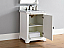 Abstron 26 inch Cottage White Finish Sink Traditional Bathroom Vanity Optional Countertop