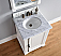 Abstron 26 inch Cottage White Finish Single Traditional Bathroom Vanity Optional Countertop