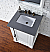 Abstron 26 inch Cottage White Finish Single Sink Traditional Bathroom Vanity Countertop