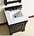 Abstron 26 inch Mahagony Finish Single Bathroom Vanity Optional Countertop