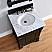 Abstron 26 inch Mahagony Finish Single Sink Vanity Optional Countertop