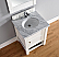Abstron 26 inch Cottage White Single Bathroom Vanity Optional Countertop