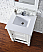 Abstron 26 inch Cottage White Single Sink Bathroom Vanity Countertop