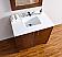 Abstron 36 inch Walnut Finish Single Bathroom Vanity Optional Countertop