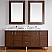 Abstron 72 inch Walnut Finish Bathroom Vanity Stone Countertop Options