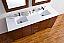 Abstron 72 inch Walnut Finish Bath Vanity Stone Countertop Options