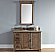 Abstron 48 inch Driftwood Finish Transitional Bathroom Vanity Optional Countertop