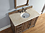 Abstron 48 inch Driftwood Finish Transitional Bathroom Vanity