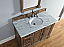 Abstron 48 inch Driftwood Finish Transitional Bathroom Vanity Countertop
