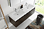 Fresca Mezzo 60 inch Gray Oak Wall Mounted Double Sink Bath Vanity