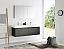 Fresca Mezzo 60 inch Black Wall Mounted Double Sink Bathroom Vanity