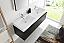 Fresca Mezzo 60 inch Black Wall Mounted Double Sink Bath Vanity