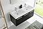 Fresca Mezzo 48 inch Black Wall Mounted Double Sink Modern Vanity