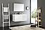 Fresca Mezzo 48 inch White Wall Mounted Double Sink Modern Bathroom Vanity
