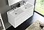 Fresca Mezzo 48 inch White Wall Mounted Double Sink Modern Vanity
