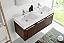 Fresca Mezzo 48 inch Walnut Wall Mounted Double Sink Modern Vanity