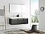Fresca Mezzo 60 inch Black Wall Mounted Double Modern Bathroom Vanity