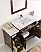 54 inch Antique Coffee Finish Traditional Bathroom Vanity with Mirror
