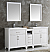 72 inch White Finish Double Sink Traditional Bathroom Vanity