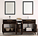 72 inch Antique Coffee Finish Double Sink Traditional Bath Vanity with Mirror