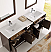72 inch Antique Coffee Finish Double Sink Traditional Bathroom Vanity