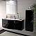 43 inch Modern Floating Bathroom Vanity Black Glossy Finish