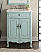 26 inch Adelina Cottage Light Blue Bath Vanity Crystal White Marble Top