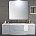 57 inch Modern Floating Bathroom Vanity Grey Finish